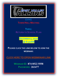EVHS Town Hall Meeting Flyer Image