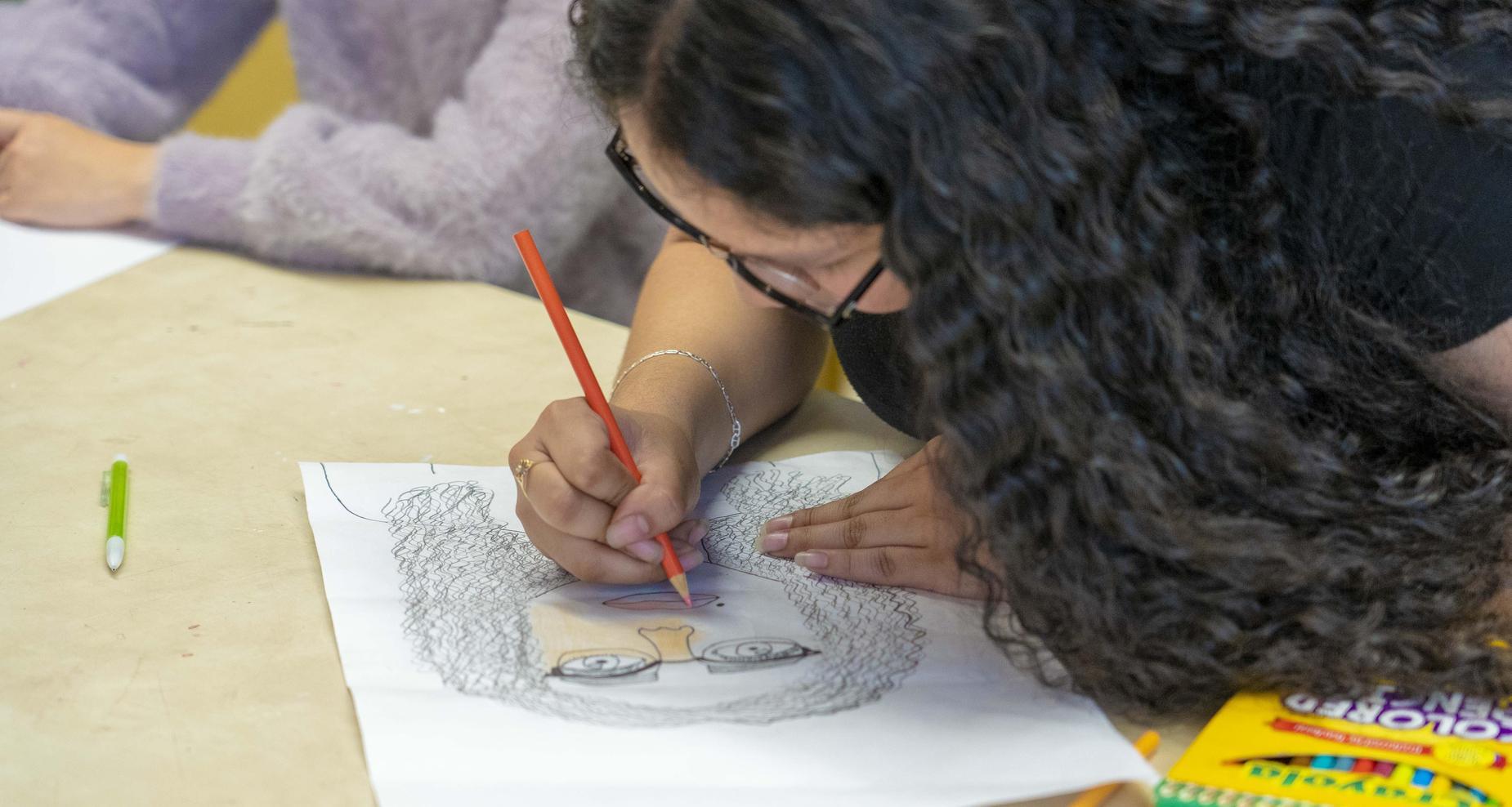 student art class
