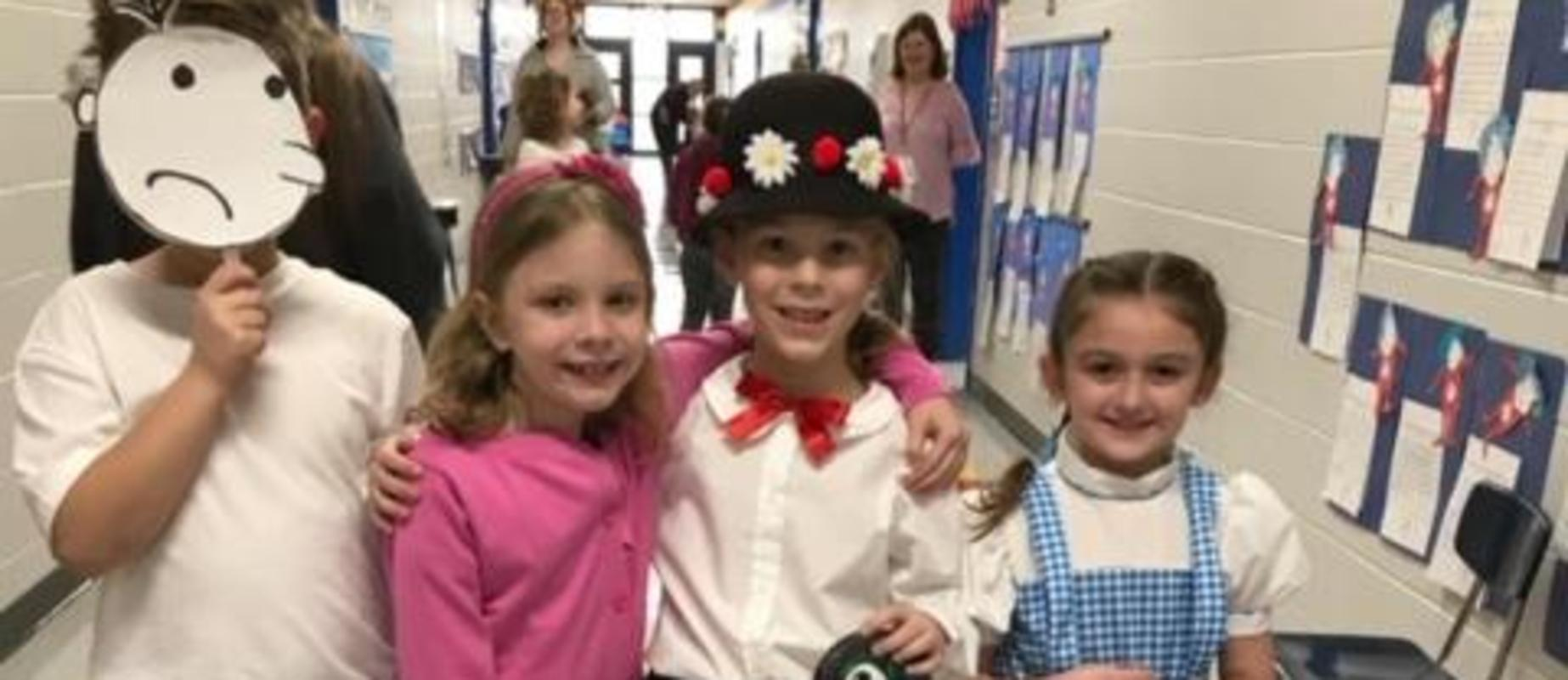 Students dressed as story characters