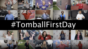 Tomball First Day Photo with Principals