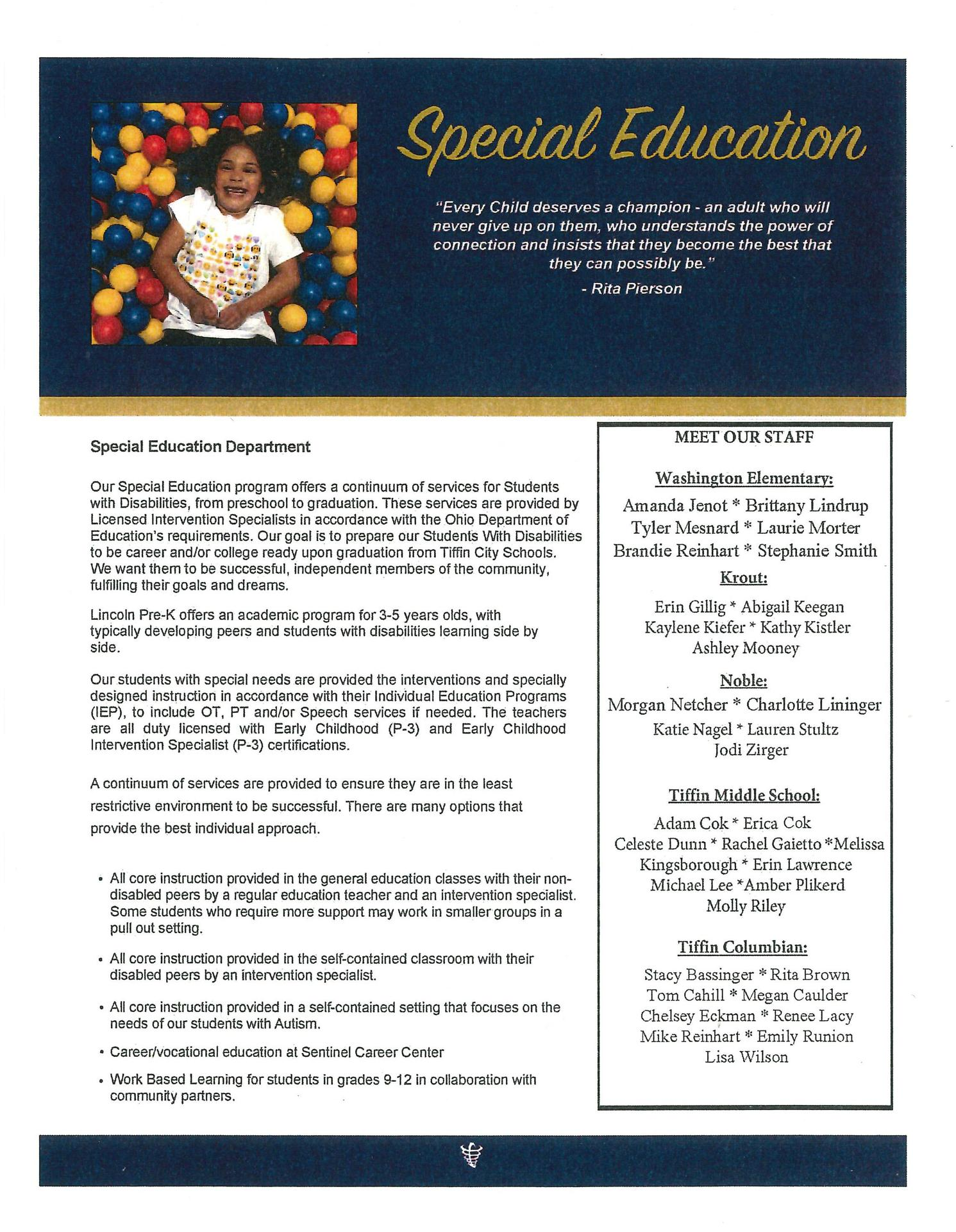 Special Ed Page