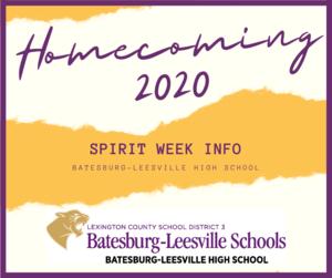 2020 Homecoming Week Spirit Day Information