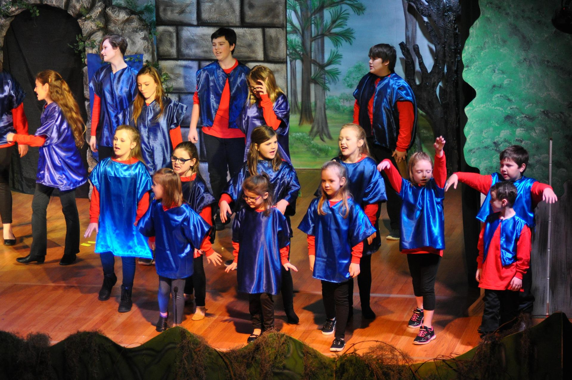 Townsfolk in Children's Theater's Production of 'Shrek The Musical Jr.' in January 2018