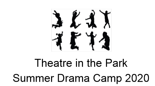 Theater in park in black and white