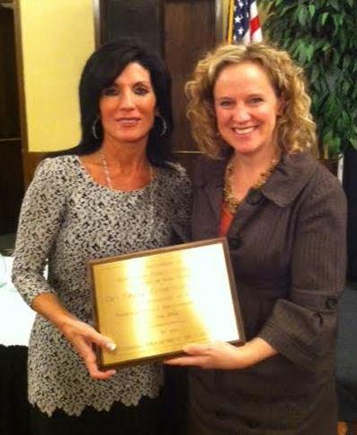 National Title 1 Distinguished School award with Superintendent Balow