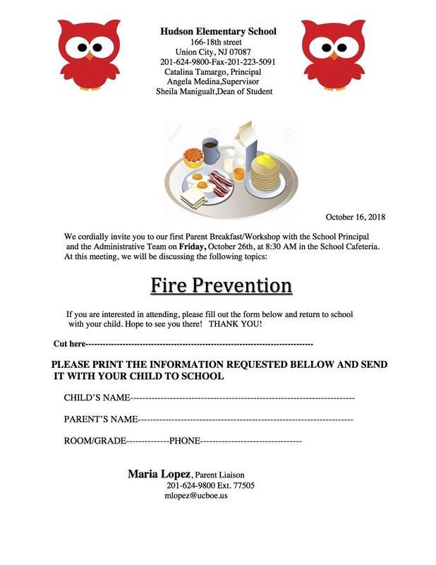 Fire Prevention Breakfast Workshop Flyer
