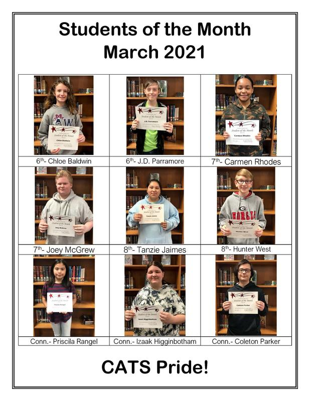 Student of the Month- March 2021 Featured Photo