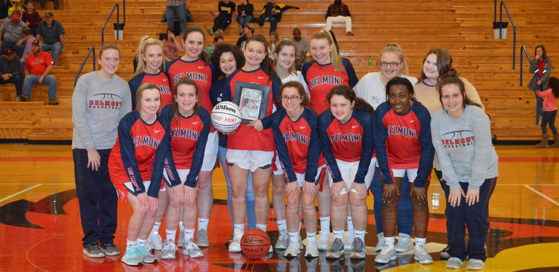 Belmont Sophomore, Macie, Scored her 1000th Point in Basketball!