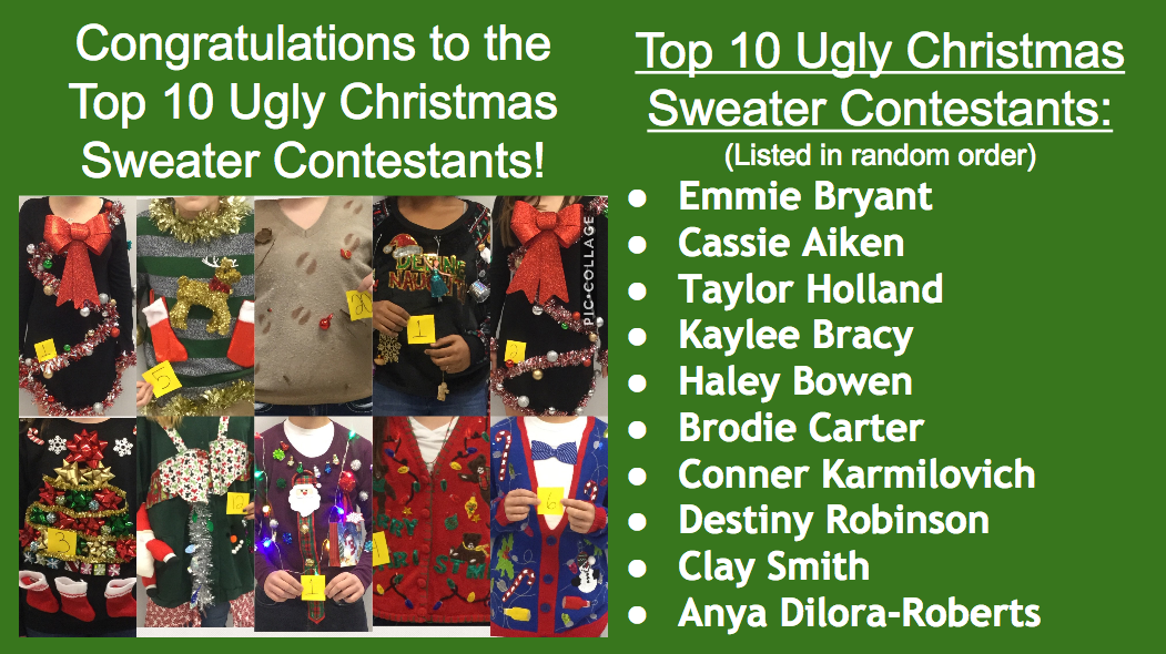 Top 10 Ugly Christmas Sweater Contestants