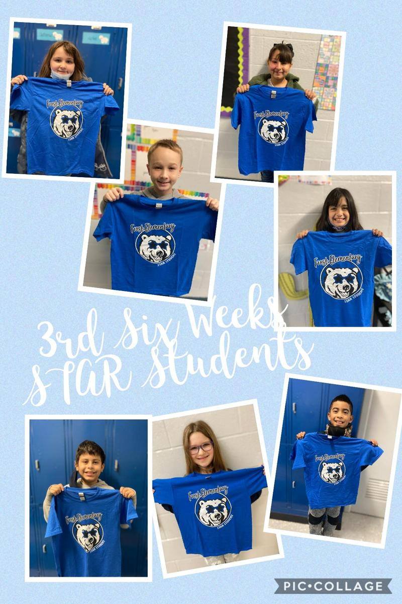 3rd Six Weeks STAR Students 3rd - 5th Grade Featured Photo