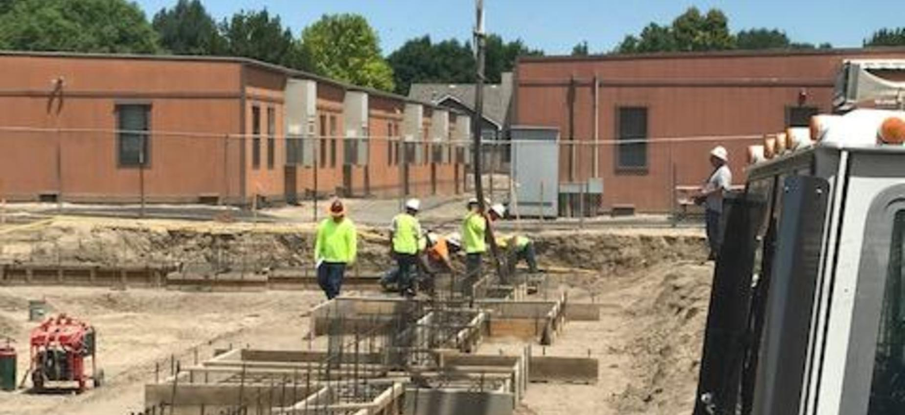 Phase II Building Project first concrete pour