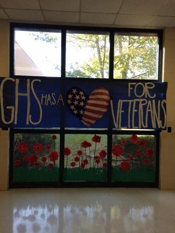 GHS love the Veterans sign