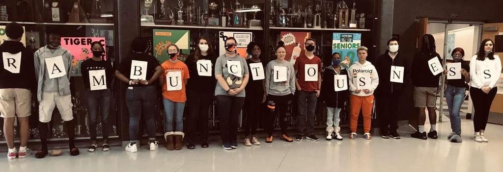 Picture of students on word day, homecoming 2020
