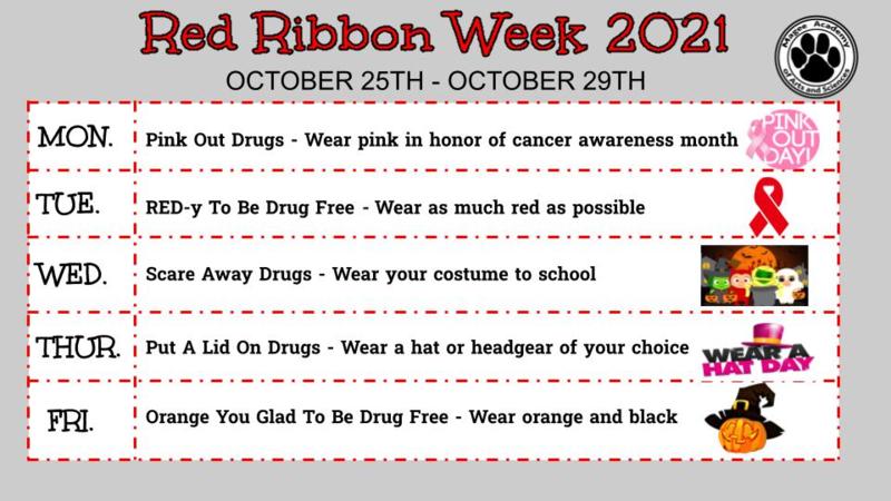 Red ribbon week flyer english