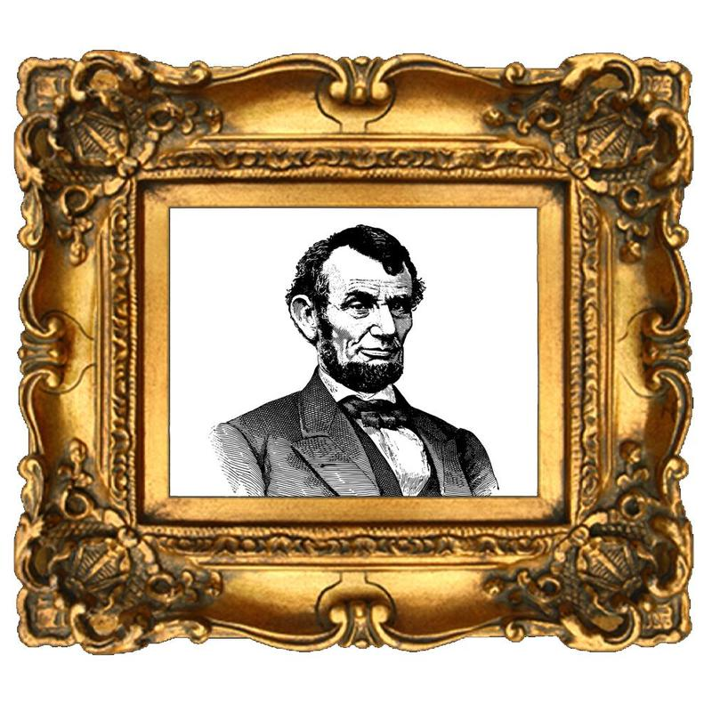 Abe Lincoln in a picture frame