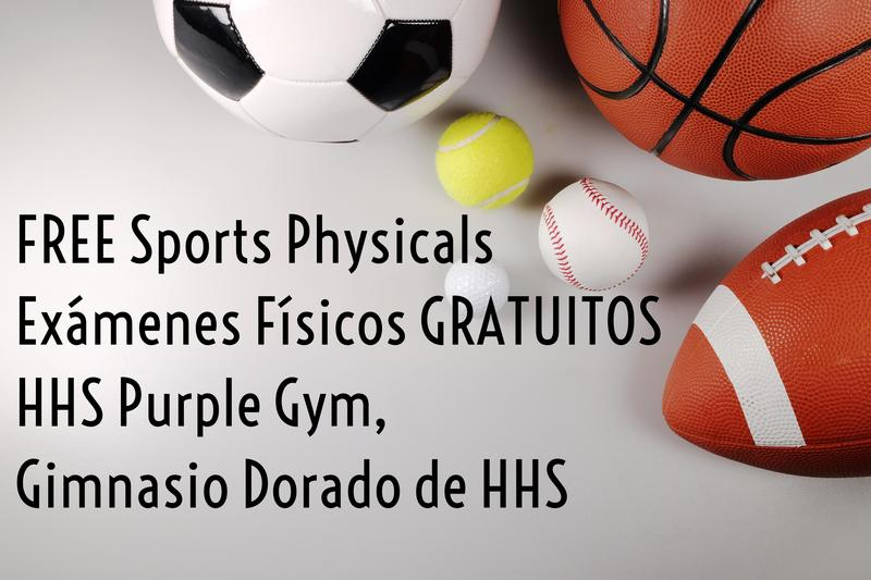Message announcing free sports physicals at Hermiston High School.