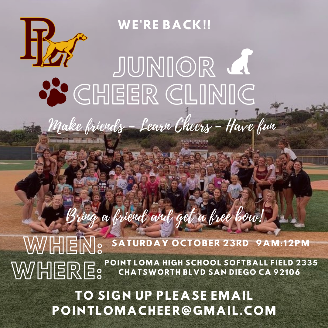 Our Junior Cheer Clinic is BACK!!!