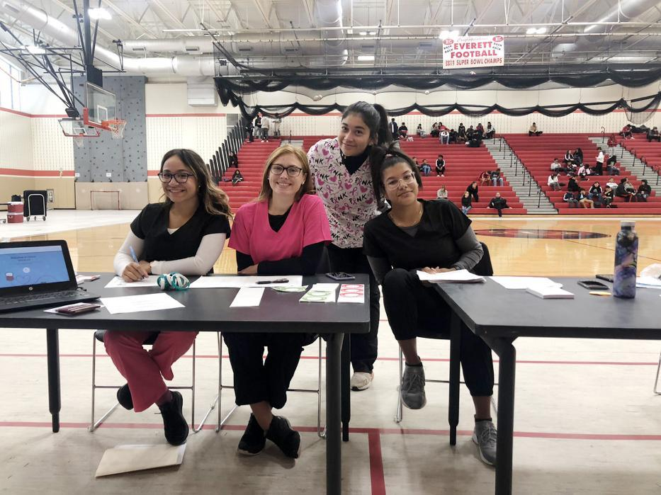 Students staff the first Red Cross Blood Drive of the 2019-20 school year