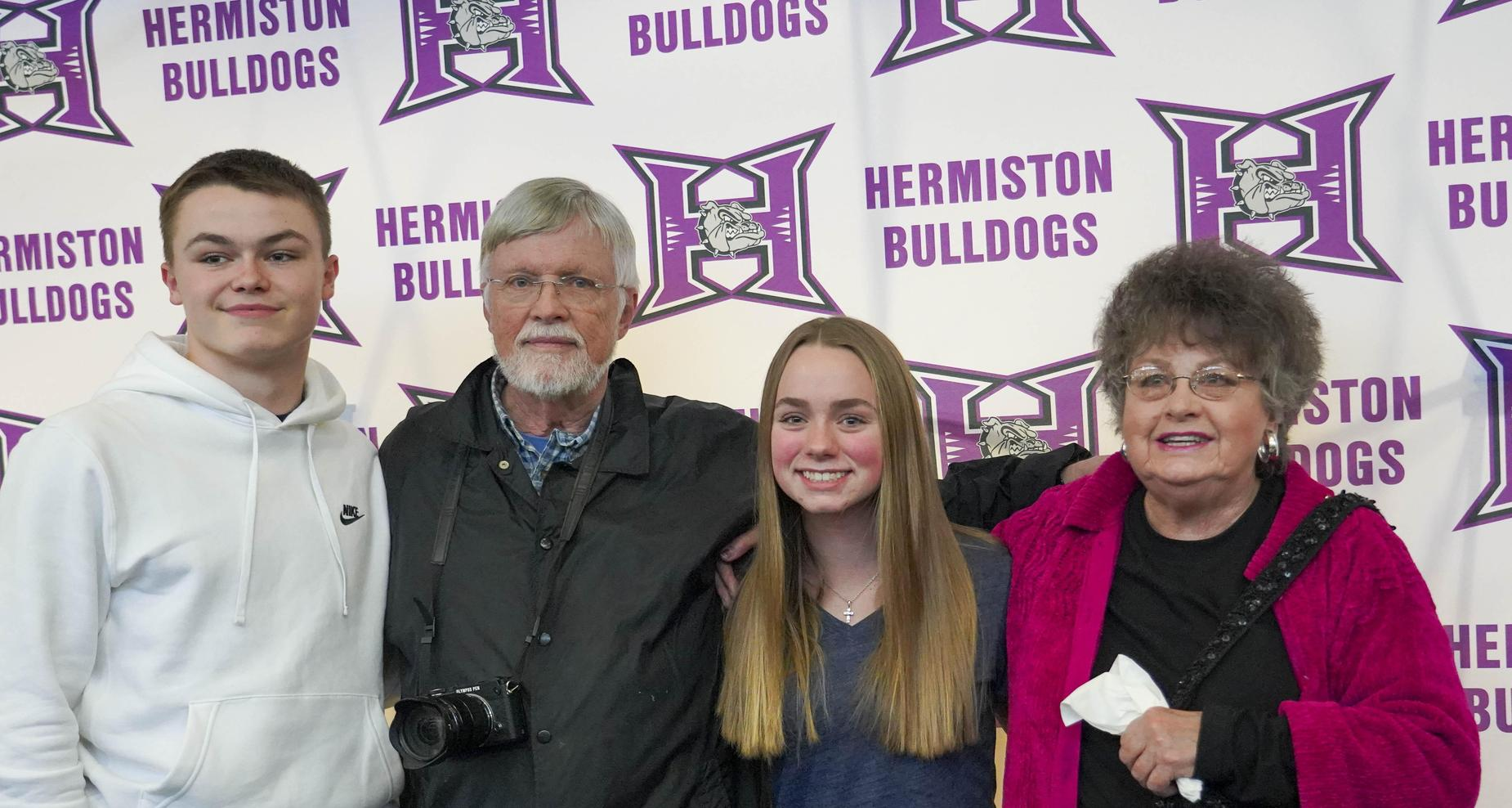 Grandparents of students that signed letter of intent.