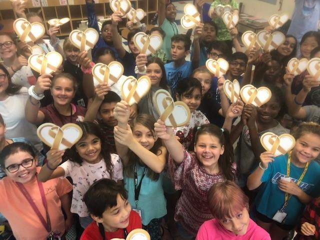 5th graders raising funds for pediatric cancer