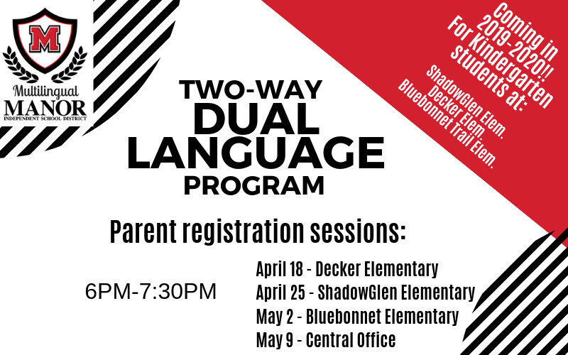 Manor ISD To Offer Two-Way Dual-Language Program in 2019-20 School Year Thumbnail Image