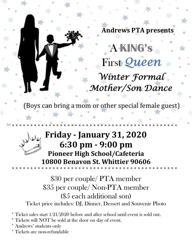 Andrews Winter Formal Flyer