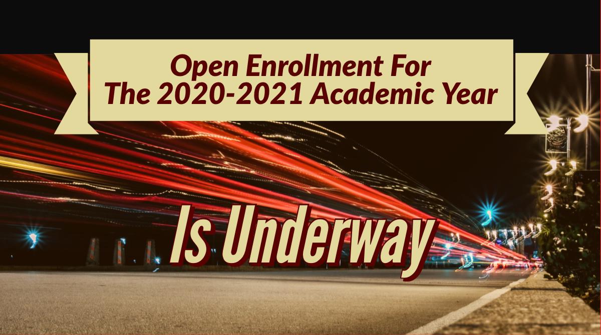 2020-2021 Enrollment Banner