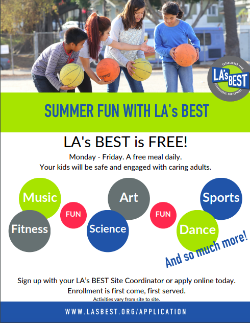 LA's Best Summer School Application/Solicitud para Escuela de Verano LA's Best Featured Photo