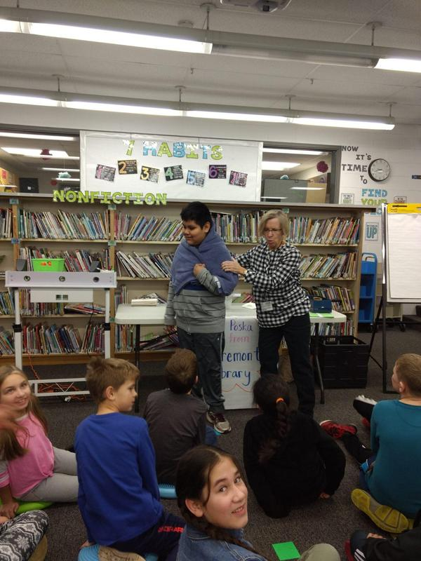 Fremont Librarian completes STEAM activity with students