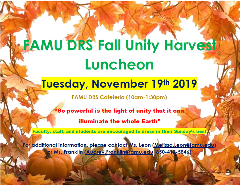 FAMU DRS Fall Unity Harvest Luncheon Featured Photo