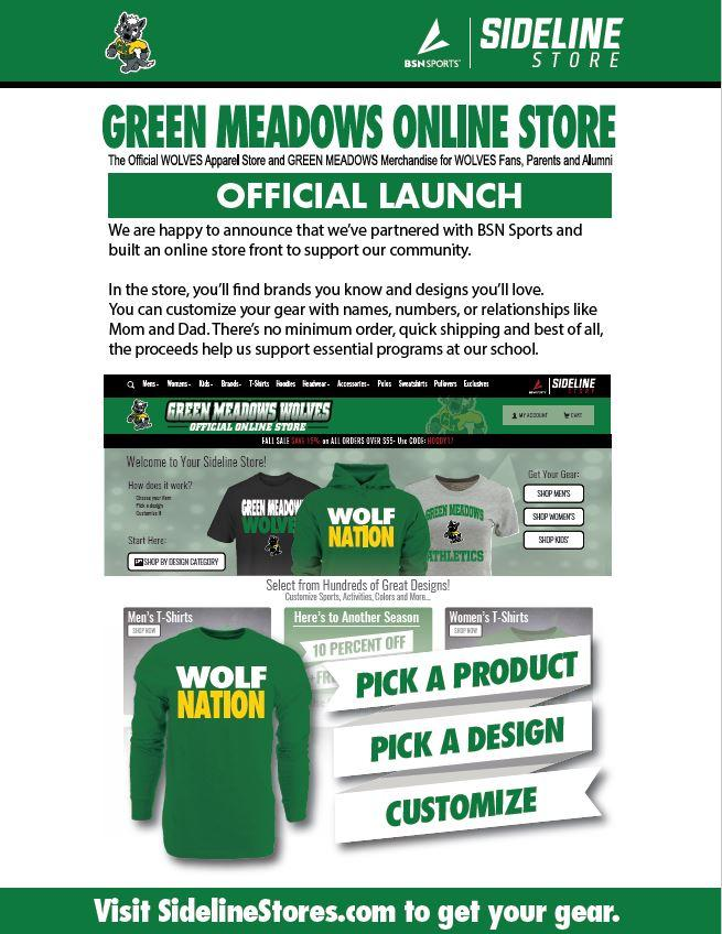 Sideline Store Announcement Flyer