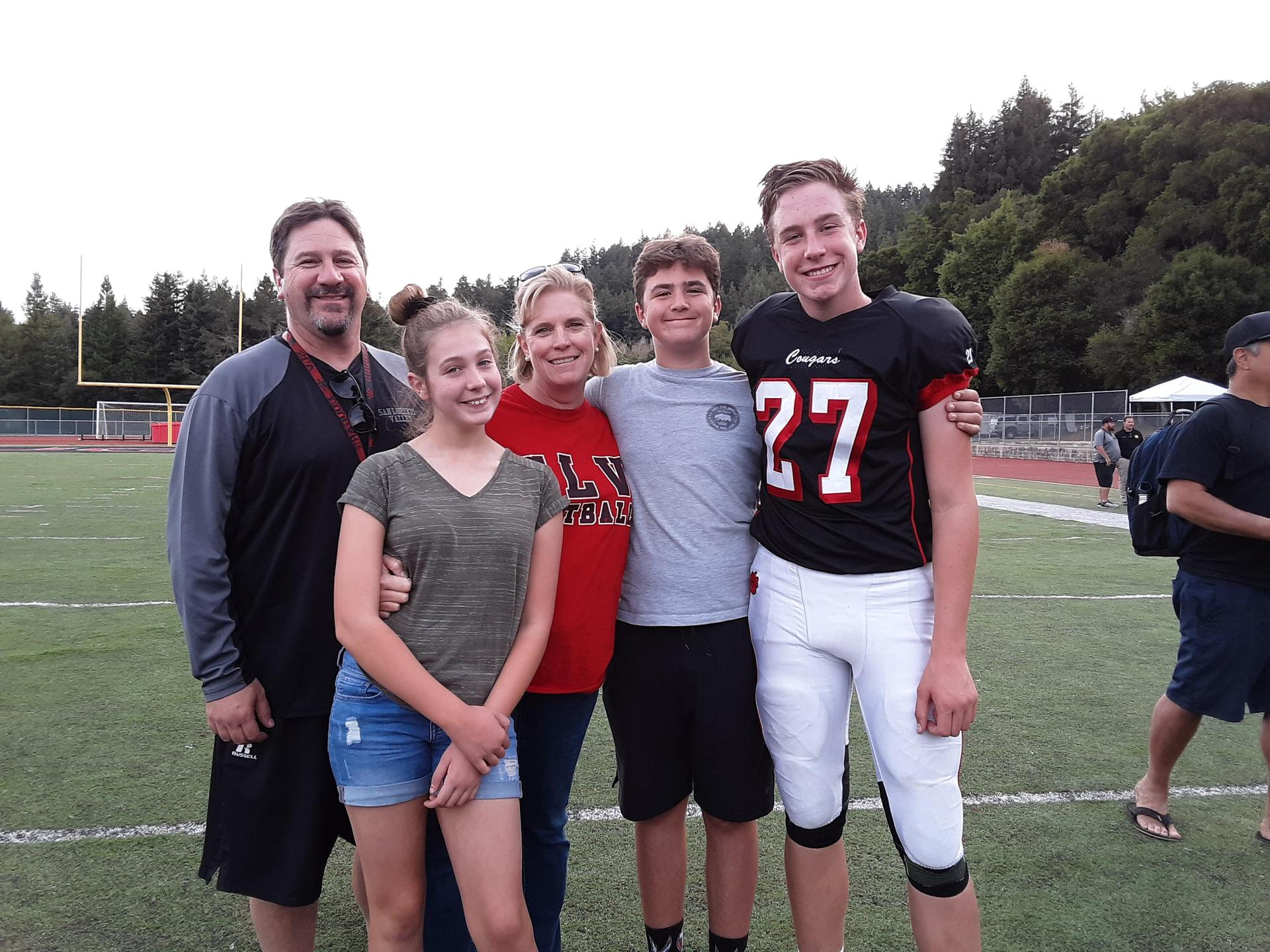 My family and I...Jeff, Mary, Ben and Jack