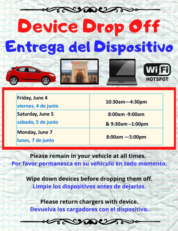 Device Drop Off/Entrega de Dispositivo Featured Photo