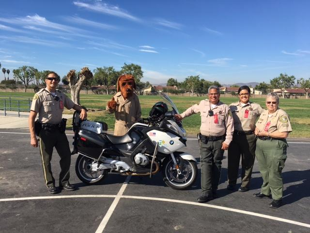 Riverside County Sheriffs showing students to say no to drugs