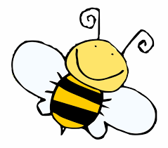 Cartoon picture of a bumble bee flying