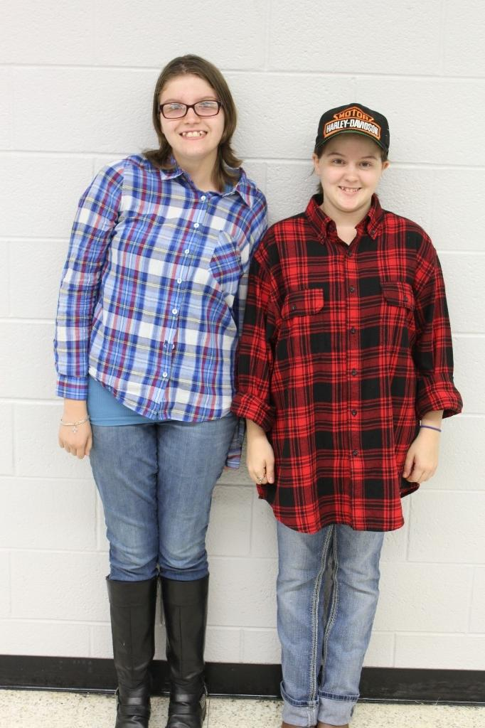Twins Day:  Flannel Shirts