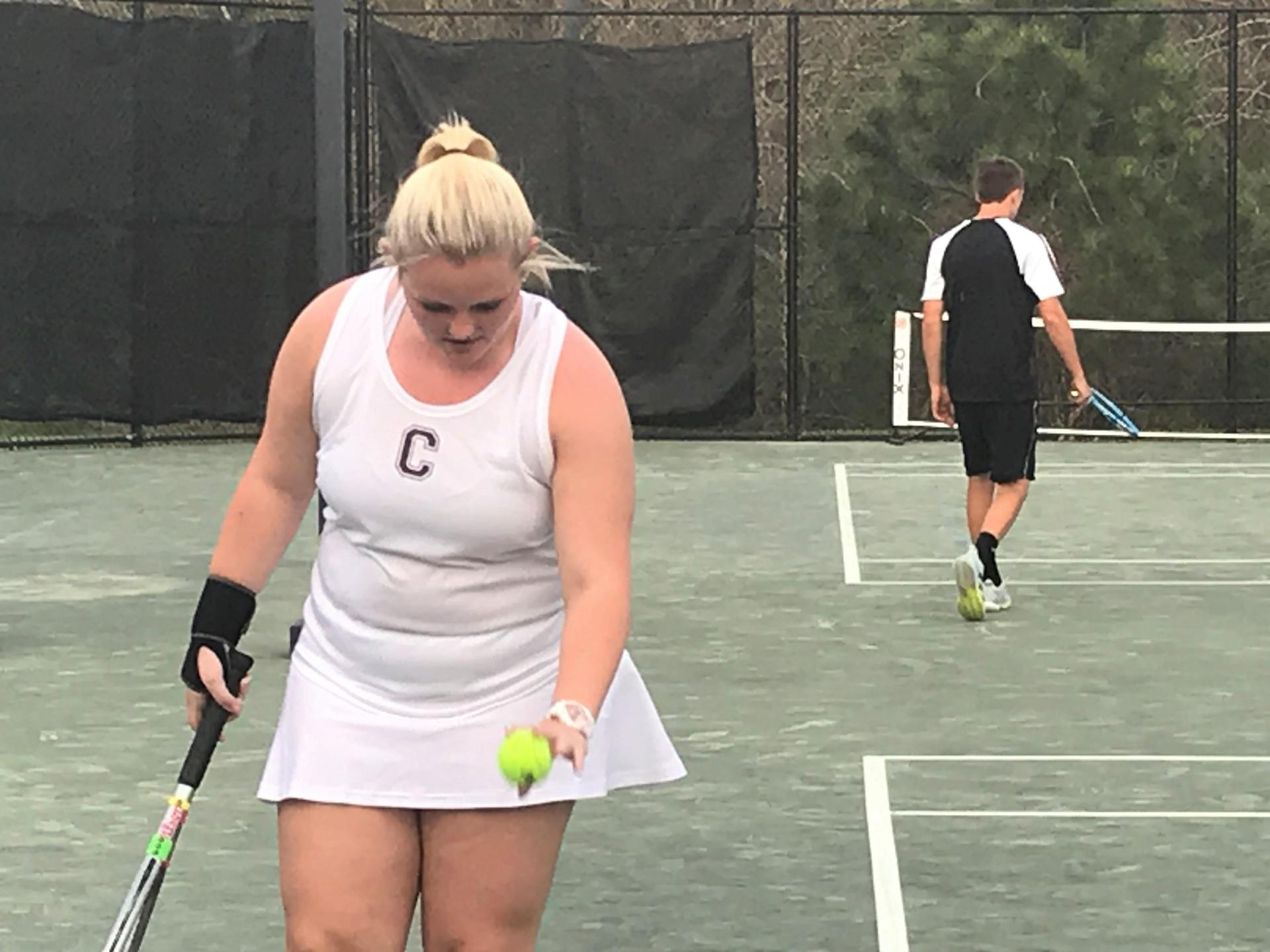 CHS Girls Tennis Action