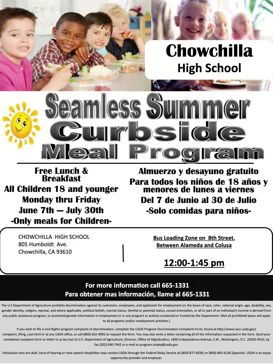 Summer Cafeteria Announcement