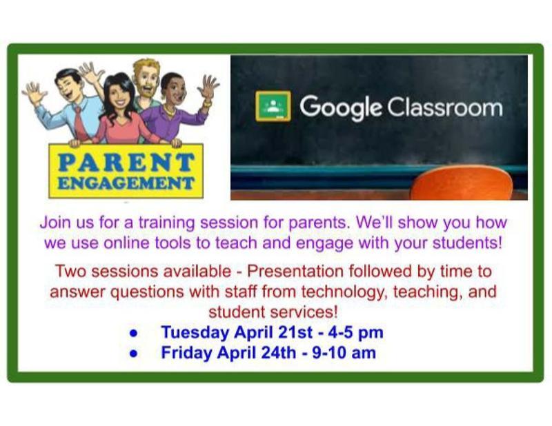 Google Classroom for Parents Flyer