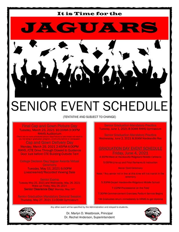 Jaguar Class of 2021 Schedule of Events Featured Photo
