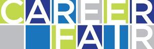 word in blue green dark blue  (careerfair )