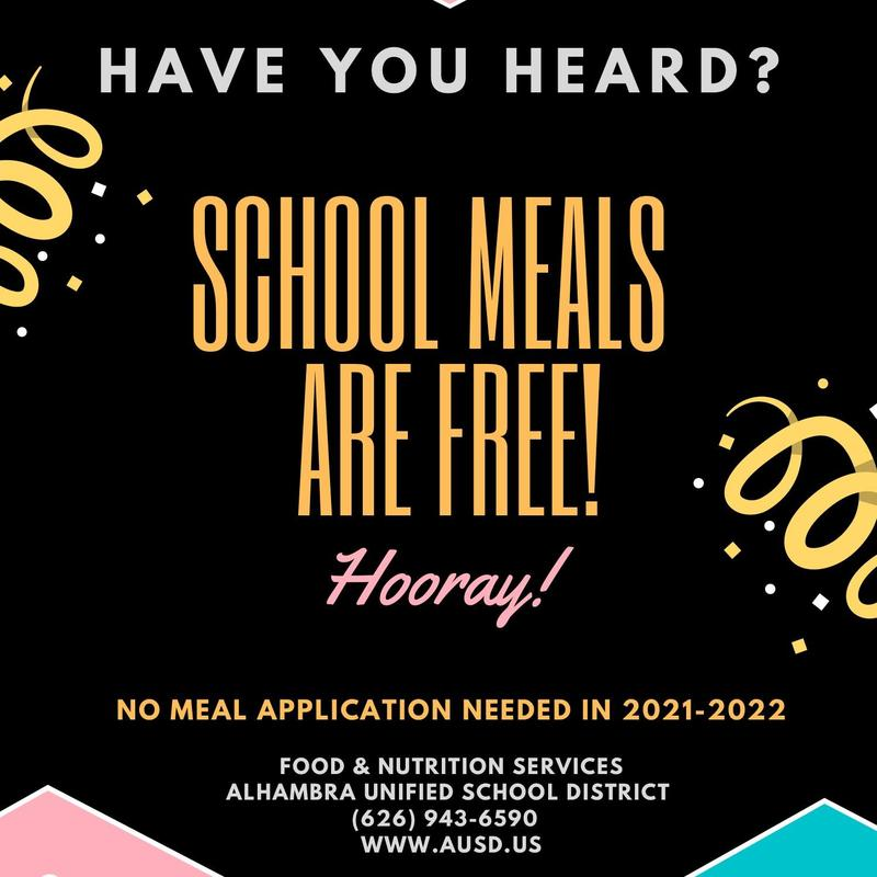 Free School Meals for ALL Students in 2021-22 Featured Photo