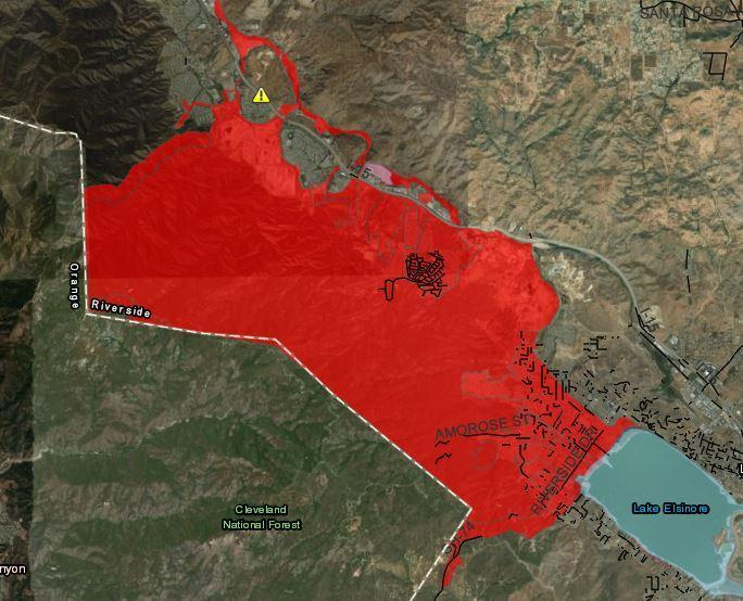 Holy Fire debris flow hazard map