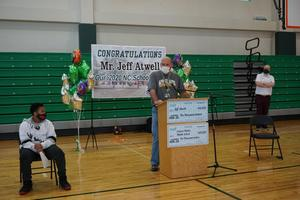 Mr. Atwell speaks at his celebration ceremony