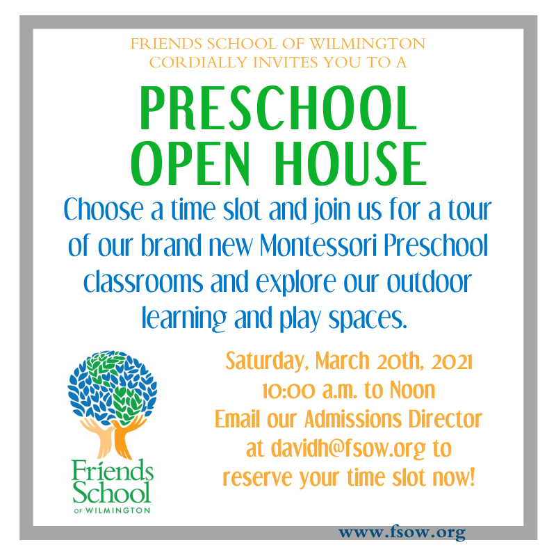 Preschool Open House on March 20th Featured Photo