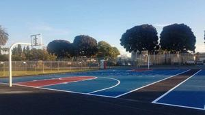 Basketball courts at Crozier Middle School
