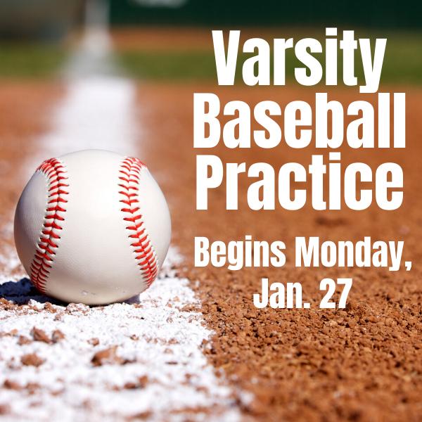 Baseball practice begins