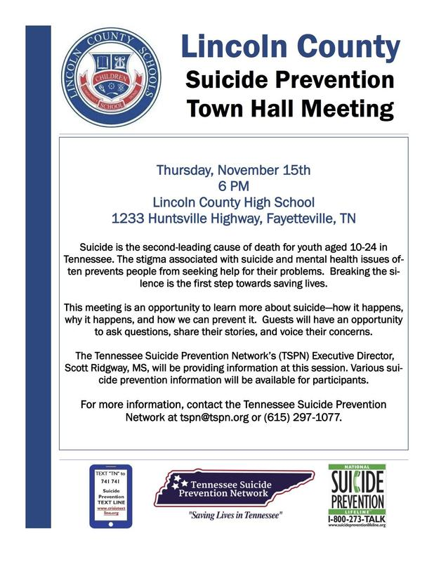 Suicide Prevention Town Hall Meeting