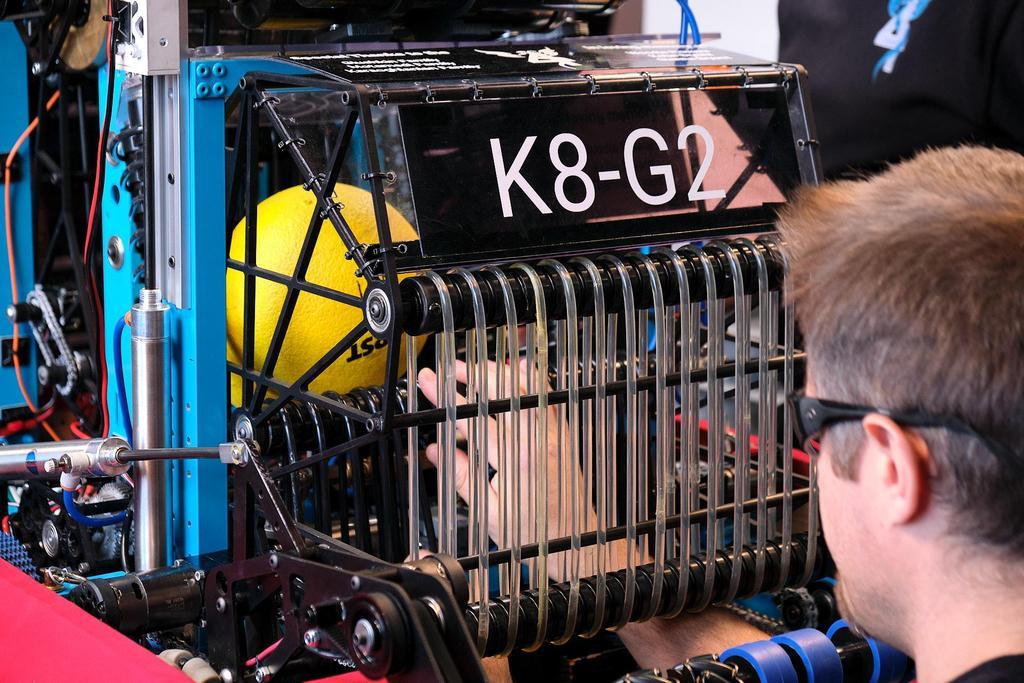 Mr. B checking alignment on K8-G2