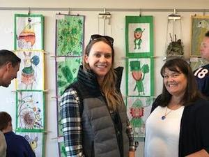 Irish art exhibit with Ms. Steers